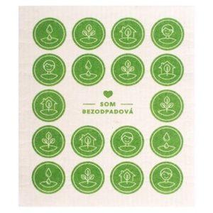 som bezodpadova kompostovatelna hubka zelena