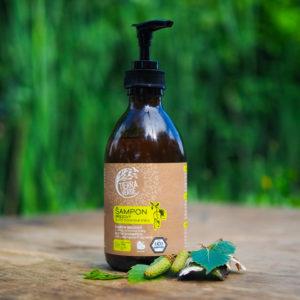 Čapovaný šampón na suché vlasy breza a citrónová tráva Tierra Verde