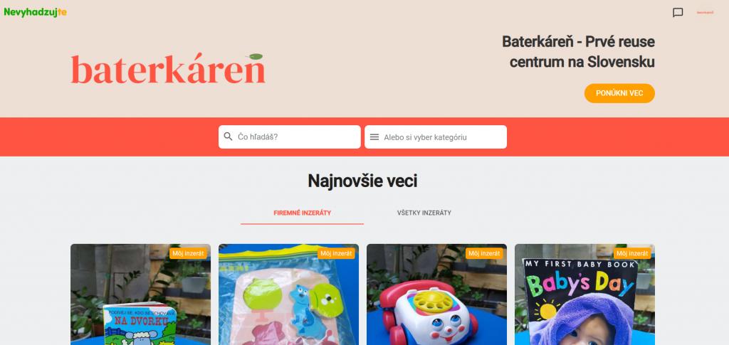 Online reuse centrum Baterkáreň