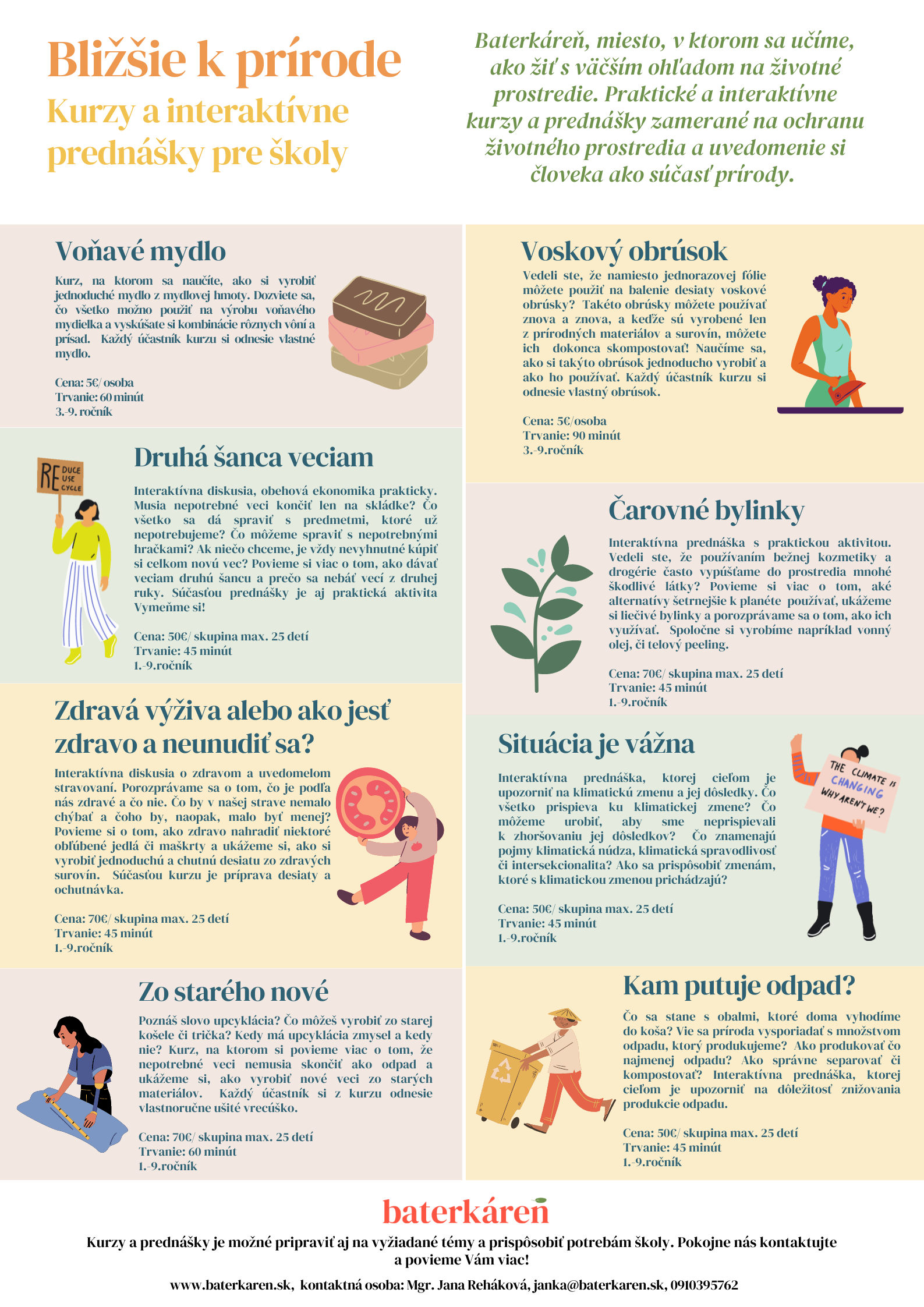 Prednášky a kurzy pre základné školy